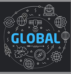 Logo global network vector