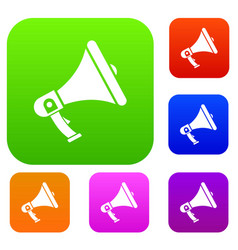 megaphone set collection vector image