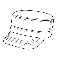 military cap vector image