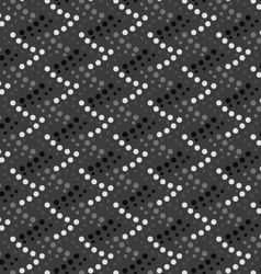 Monochrome pattern with gray and black dotted vector image vector image