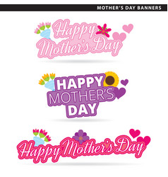 mothers day banners vector image