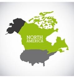 north america design vector image
