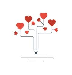 Novel writing concept passion feelings vector