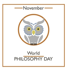 Philosophy day vector