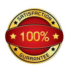 Satisfaction guarantee logo isolated on white vector