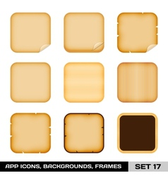 Set of colorful app icon frames templates vector