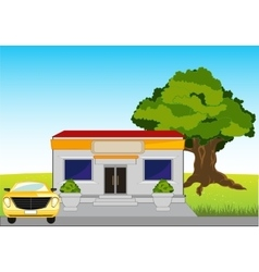 Small shop on road vector