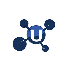 Synergy logo initial u vector
