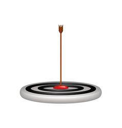 Target and arrow in wooden design vector