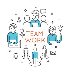 Teamwork people organization vector image vector image