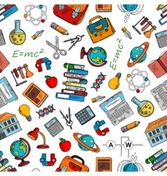 science and knowledge symbols wallpaper vector image