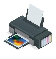 Photo inkjet printer color printer prints photo vector
