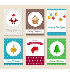 Christmas greeting cards and invitations set vector