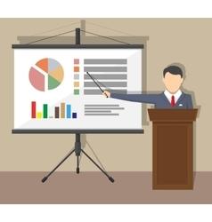 Training staff meeting report business school vector image