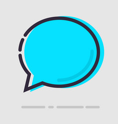 abstract flat blue chat icon vector image