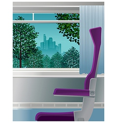 Chair interior city scene vector
