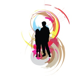 Dad and daughter vector image
