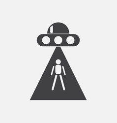 Black icon on white background flying saucer and vector
