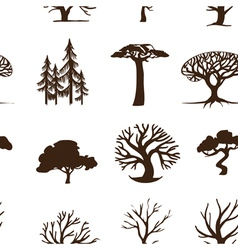 seamless trees vector image