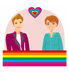 Gay couple vector