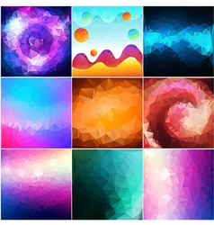 Abstract geometric gallery vector