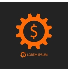 Orange business logo vector