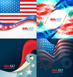 Collection 4th of july american independence day vector