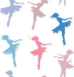 Ballerina seamless pattern vector