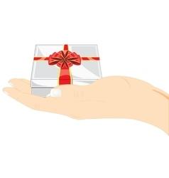 Gift in hand vector