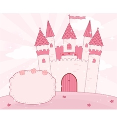 Cartoon fairy tale castle background vector