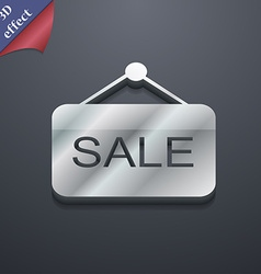 Sale icon symbol 3d style trendy modern design vector