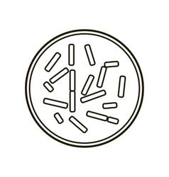 Colony of bacteria icon vector