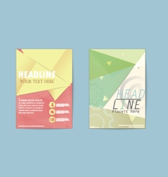 Abstract triangle brochure flyer design business vector