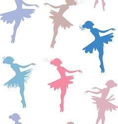 Ballerina seamless pattern vector