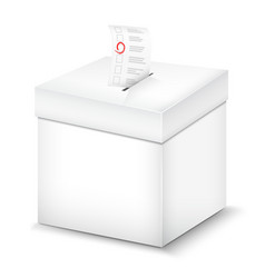 Ballot box isolated on white vector