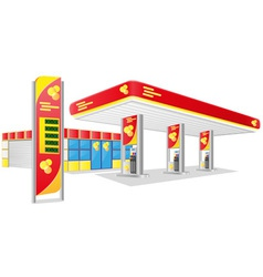car petrol station vector image vector image
