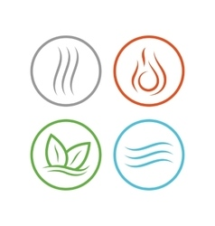 Four elements icons vector