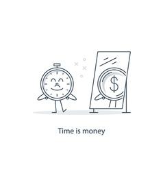 Future money savings vector image vector image