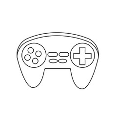 Gamepad icon joystick for game console vector