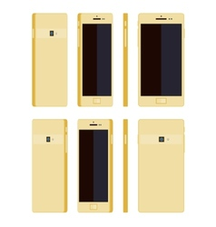 Generic gold smartphone vector image
