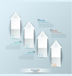 infographic design layout with 4 numbered upward vector image vector image