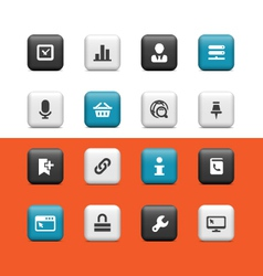 Internet and web buttons vector image vector image