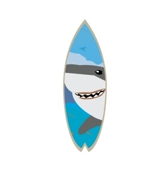 Isolated colored surfboard vector
