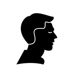man profile icon sign o vector image vector image