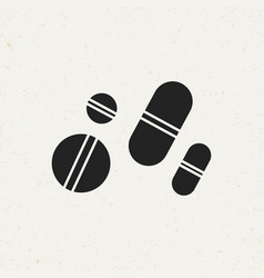 medical pills icon vector image