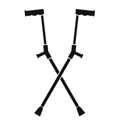 Other crutches icon simple style vector
