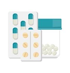 Pharmaceutical drugs medication pills vector