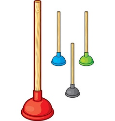 Plungers vector image