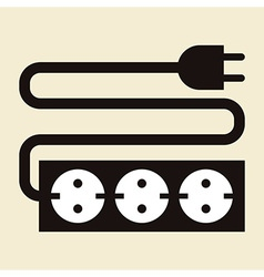 Power outlet icon vector image vector image