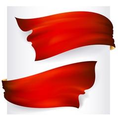 red waving ribbon banner drawing vector image